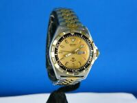 VINTAGE RARE SEIKO DIVER 3Y03-0099 QUARTZ STAINLESS  LADIES WATCH /SERVICED 1988