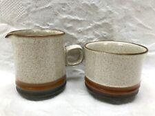 Denby Potters Wheel Milk Jug & Sugar Bowl Dish Excellent Condition (A)