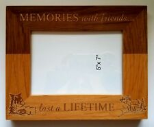 Memories with Friends Last a Lifetime 5x7 picture frame Gift Bear Elk Country