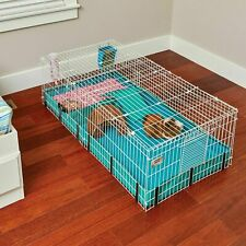 Midwest Homes Pets Large Interactive Guinea Pig Hamster Cage Habitat Plus Deluxe