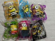2017 The Despicable Me 3 Minions McDonalds Happy Meal Toys Complete Set 6 PCS