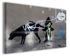 Quadri famosi Banksy VII stampe riproduzioni su tela copia falso d'autore