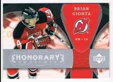 2007-08 TRILOGY HONORARY SWATCHES BRIAN GIONTA JERSEY 1 COLOR NEW JERSEY DEVILS