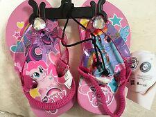NWT MY LITTLE PONY Pink Jeweled FLIP FLOPS Sz 5-6 Toddler Girls