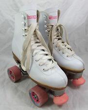 Women's White CHICAGO Roller Rink Quad Skates US 7 EUR 38 Pink Wheels