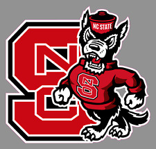 "North Carolina State Wolfpack Logo 6"" Vinyl Decal Bumper Window Sticker - NCAA"