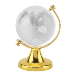 Round Earth Globe World Map Glass Ball Sphere Home Office Home Use