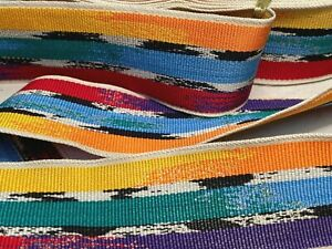 Vintage Grosgrain 1950s Multi Color 1.5' Rayon Cotton Ribbon 1yd Made in France