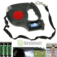 16ft Automatic Retractable Dog Leash Pet Collar With 3 LED Light & Garbage Bags