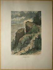1884 print WASHINGTON ROCK, WATCHUNG MOUNTAIN, GREEN BROOK, NEW JERSEY (#31)