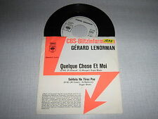GERARD LENORMAN 45 TOURS GERMANY PROMO QUELQUE CHOSE