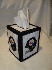Pittsburgh Steelers NFL Football Handmade Plastic Canvas Tissue Box Holder NEW