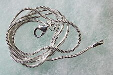 UK Jewellery piezas de 2 X 24 pulgadas 2mm Collar de Cadena Serpiente Plata Suave