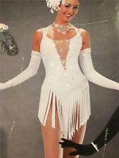 Dance Costume Jazz Tap Skate Medium Child Art stone White Roxy