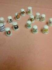 THIMBLES, 15, VINTAGE CHINA. collectable.