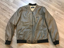 VINTAGE MEMBERS ONLY CLASSIC BASEBALL FAUX LEATHER JACKET MENS LARGE FREE SHIP