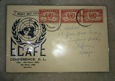 Malaysia Malaya 1958 FDC ECAFE Conference Kuala Lumpur,  World Map design