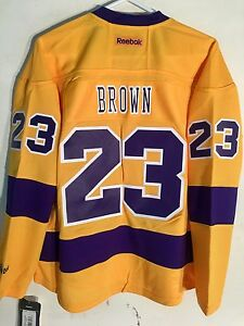 Reebok Women's Premier NHL Jersey Los Angeles Kings Dustin Brown Yellow sz M
