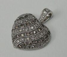 14K Gold Heart Charm, Diamond Accents, Love Charm, 14KT, Pendant, #C442