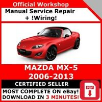 FACTORY WORKSHOP SERVICE REPAIR MANUAL MAZDA MX-5 2006-2013 +WIRING