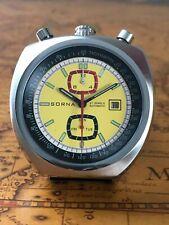 Bullhead Sorna Tachymetre Automatikuhr Retro  Watch NOS Style