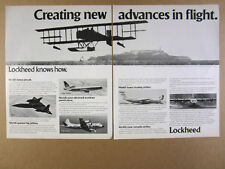 1978 Lockheed SR-71 L-1011 P-3C Orion C-5 Galaxy C-130 Hercules vintage print Ad