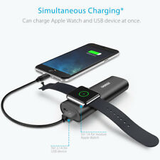 2 IN 1 Charger Power Bank Battery Pack 5000mAh For Apple Watch Series iPhone 7 6