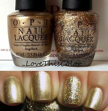 2 x OPI Gold Shimmer GLITZERLAND & Burlesque Glitter BRING ON THE BLING Dxd Lot