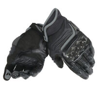 Dainese Carbon D1 Short Black Leather Motorcycle Gloves NEW RRP £119.95