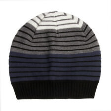 946d4c93 Boys Striped Beanie Hat Warm Soft Cable Knit 4-10 years Navy