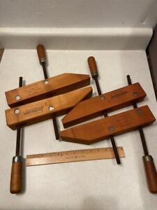 "Pair Jorgensen Size 2 / 12"" Inch Specialty Wood Clamp Hand Screw - Woodworking"