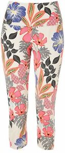 Khakis & Co Womens Suave Floral Capri Leggings