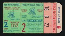 1960 WORLD SERIES GAME 2 TICKET STUB MICKEY MANTLE HOME RUN 12 & 13