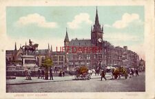 England. Leeds, City Square horsedrawn carriages