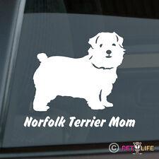 Norfolk Terrier Mom Sticker Die Cut Vinyl - v2
