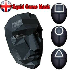 Squid Game Mask costume Cosplay black boss Play Korean Halloween Guard Party Hot