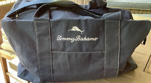 New Tommy Bahama Blue Marlin  Weekender Bag Gym Sports Duffle Bag- Blue
