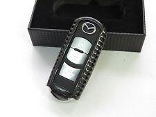 Pinalloy Carbon Fiber Keyless Smart Key Cover Case Shell Mazda 3 6 CX5 CX7 MX5