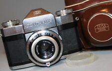 ZEISS IKON CONTAFLEX ALPHA 35mm film Camera PANTAR 45mm f2.8 Interchangable Lens