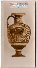 Ancient Greek Circular Vase Pottery Ceramic 1920s Ad Trade  Card