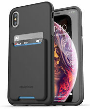 iPhone XS Max Wallet Case Credit Card ID Holder Protective Cove(Phantom) Black