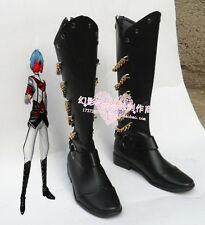 Vocaloid Kaito Unhappy Refrain Halloween Black Cosplay Shoes Boots H016