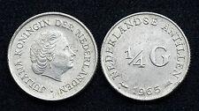 1/4 Gulden 1965 Nederlandse Antillen/ Antilles Néerlandaises. Argent/ Silver