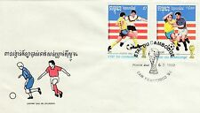 (14349) CLEARANCE Cambodia FDC Football World Cup San Francisco 6 March 1992