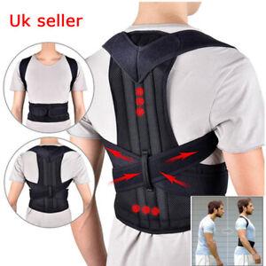 Adjustable Posture Corrector Back Support Shoulder Lumbar Brace Corset Back Belt