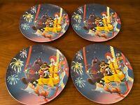 4 Vintage McDonalds Plates Ronald Grimace Hamburglar Nuggets 1993 Melamine