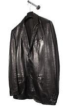 Original Vintage Helmut Lang Black Men Leather Jacket EUR50 USA40