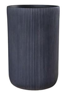 IDEALIST Ribbed Cylinder Outdoor Planter with Drainage Hole