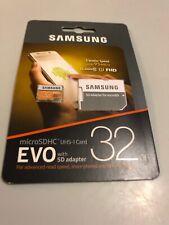 Samsung EVO 32GB Micro SD Class 10 Memory Card with Adaptor New Sealed
