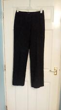 Hobbs Marilyn Anselm Ladies Wool Mix Blend Black Smart Work Trousers UK 12